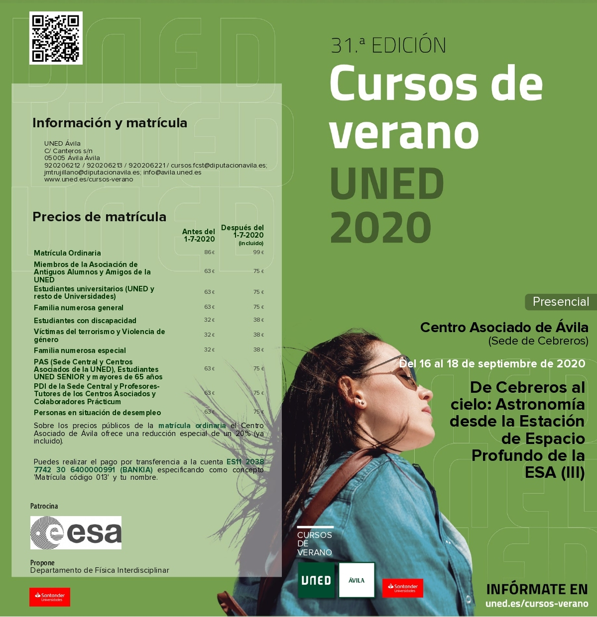 Cursos De Verano De La Uned De Cebreros Al Cielo Ayuntamiento De Cebreros